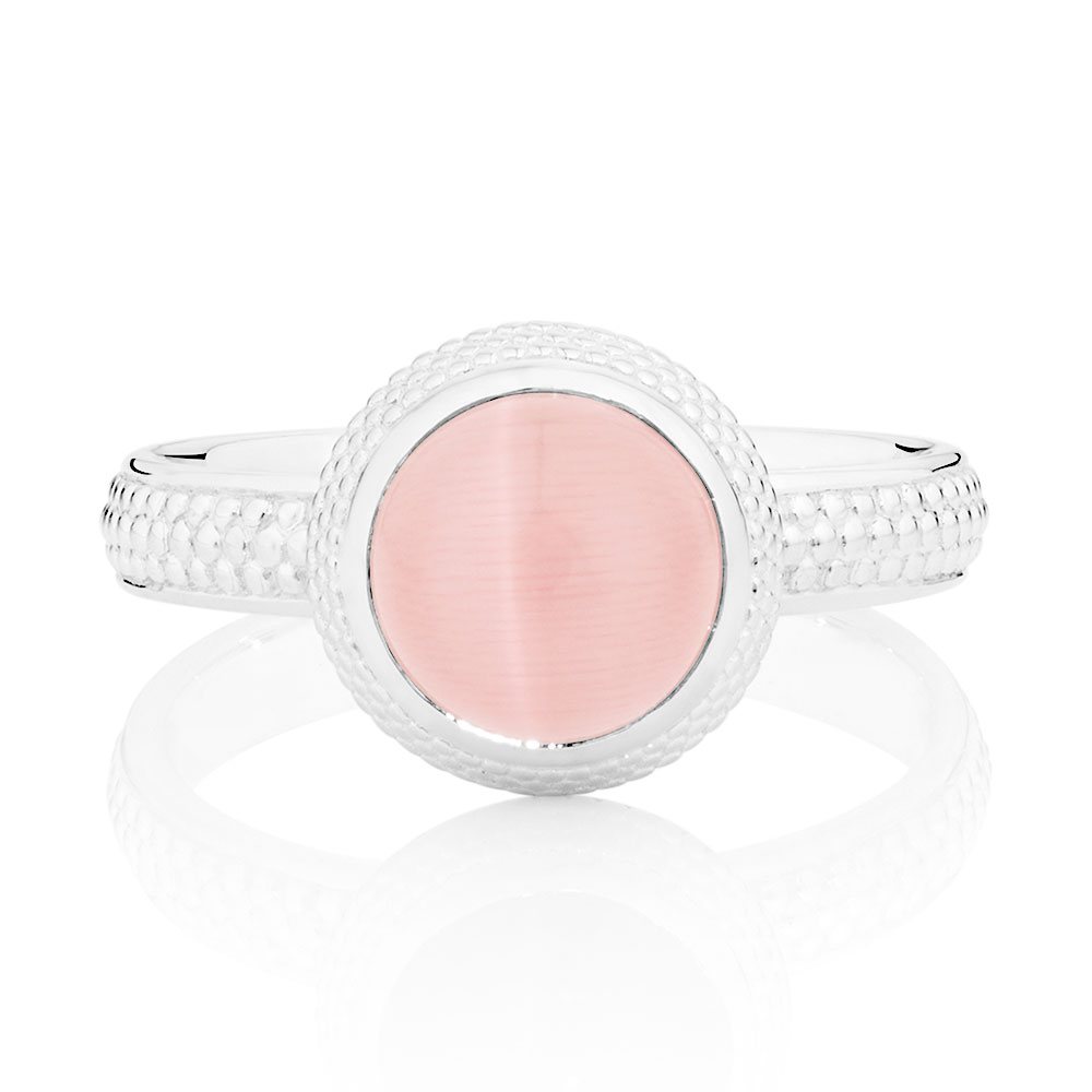 Pale Pink Cats Eye Stack Ring   Michael Hill