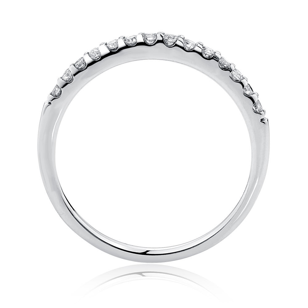 Wedding Band With 023 Carat TW Of Diamonds In 14ct White Gold